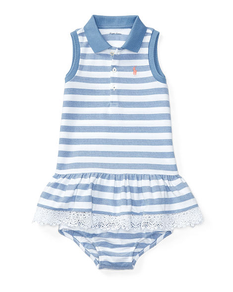 STRIPED POLO DRESS & BLOOMER